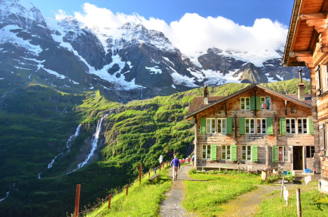 A mountain hut in the Bernese Oberland